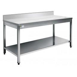 TABLES Inox Avec dosseret 700 par 2100mm AFI COLLIN LUCY CHR BEST