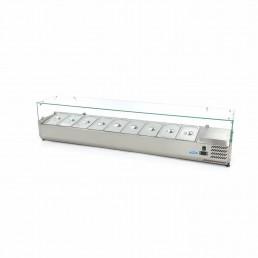 Saladette à poser refrigérée avec vitre / 200 cm / GN 1/3 MAXIMA CHR BEST