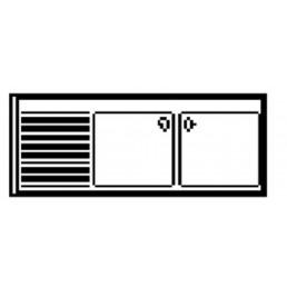 PLONGES • Sans étagère de fond • Série 700 • Avec emplacement lave-vaisselle AFI COLLIN LUCY CHR BEST