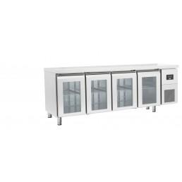 Tables Réfrigérées\n gamme afi GN 1/1 • portes vitrées \n positives • évaporateur traité AFI COLLIN LUCY CHR BEST