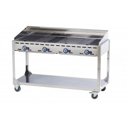 Barbecue Green Fire sur support avec roulettes HENDI CHR BEST