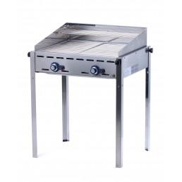 Barbecue à gaz Green Fire 2 bruleurs avec 2 grilles en inox HENDI CHR BEST