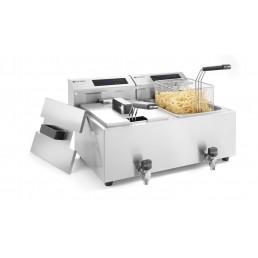 Friteuse Mastercook avec robinet de vidange numérique - 2 x 8 l HENDI CHR BEST