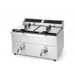 Friteuse à induction Kitchen Line 2 x 8L HENDI CHR BEST