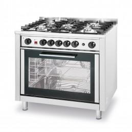 Cuisinière à gaz - 5 feux avec four électrique HENDI CHR BEST