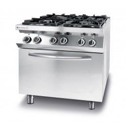 Cuisinière Kitchen Line - 4 feux avec four à convection électrique GN 1/1 HENDI CHR BEST