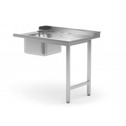 Table de décharge pour lave-vaisselle avec évier - côté droite HENDI CHR BEST