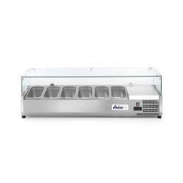 Vitrine réfrigérée 6 x GN 1/3 1405x395x(H)430 mm HENDI CHR BEST