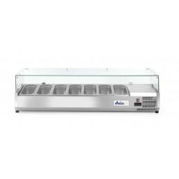 Vitrine réfrigérée 7 x GN 1/3 1605x395x(H)430 mm HENDI CHR BEST
