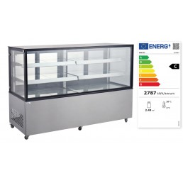 Vitrine réfrigérée avec 2 étagères 610 L HENDI CHR BEST