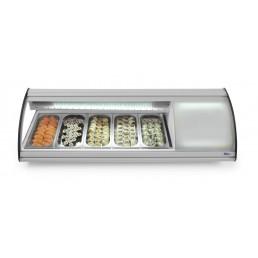 Vitrine Sushi 63l - 5 x GN 1/3 HENDI CHR BEST