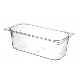 Bac à glace polycarbonate transparent 360x165x120 mm HENDI CHR BEST
