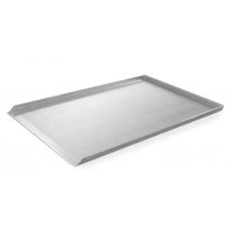 Plateau perforé avec 3 bords Aluminium 600x400 mm HENDI CHR BEST