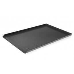 Plateau perforé avec 3 bords - Couche antiadhésive - Aluminium 600x400 mm HENDI CHR BEST