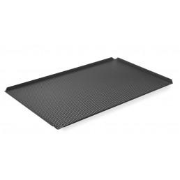 Plateau perforé GN 1/1 - avec 4 bords Avec revêtement silicone antiadhésive HENDI CHR BEST