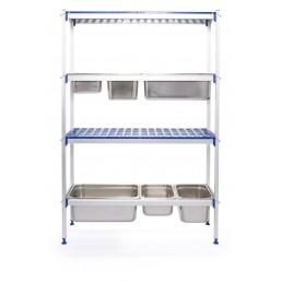 Etagères en aluminium - convient pour bac GN HENDI CHR BEST
