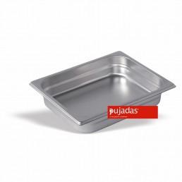 BAC GASTRONORME INOX 1/2 65 MM En INOX 18/10 de Haute Qualité PUJADAS CHR BEST