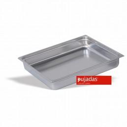 BAC GASTRONORME INOX 2/1 40 MM En INOX 18/10 de Haute Qualité PUJADAS CHR BEST