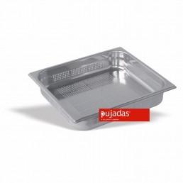 BAC GN INOX PERFORE 2/3 100 MM En INOX 18/10 de Haute Qualité PUJADAS CHR BEST