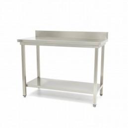 Table en Inox 'Deluxe' avec dosseret 1400 x 600 mm MAXIMA CHR BEST