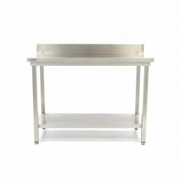 Table en Inox 'Deluxe' avec dosseret 1200 x 700 mm MAXIMA CHR BEST