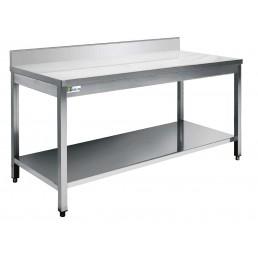 TABLES Inox Avec dosseret 600 par 800mm AFI COLLIN LUCY CHR BEST