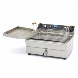 Boulangerie - Poisson Friteuse 1 x 20L Électrique avec Robinet MAXIMA CHR BEST